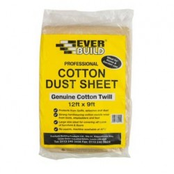 Everbuild Cotton Twill Dust sheet 12ft x 9ft (Pack of 10)