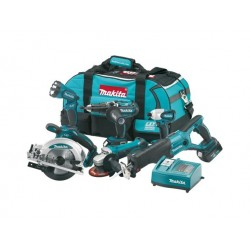 Makita 18 Volt Lithium Ion 6 Piece Kit
